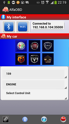 AlfaOBD 1.9.8.8 English for Android
