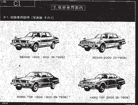 nissan old cars parts catalogs 1960 1980 pdf jap. Black Bedroom Furniture Sets. Home Design Ideas