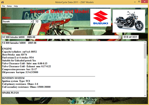 Motorcycle Technical Data Software 2011 English