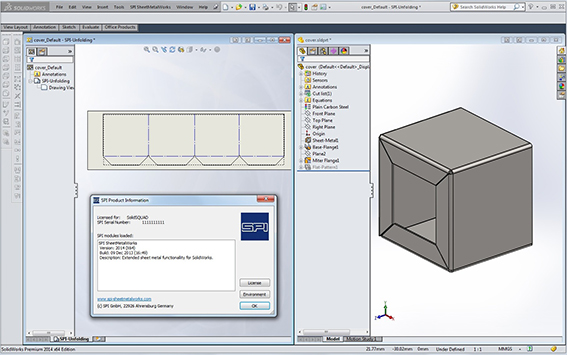 SPI SheetMetalWorks 2017.0 for SolidWorks 2017 64-bit