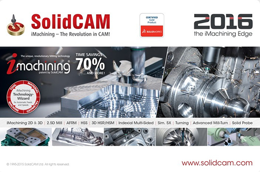 SolidCAM 2016 SP2 HF3 Multilingual for SolidWorks 2012-2017 64-bit