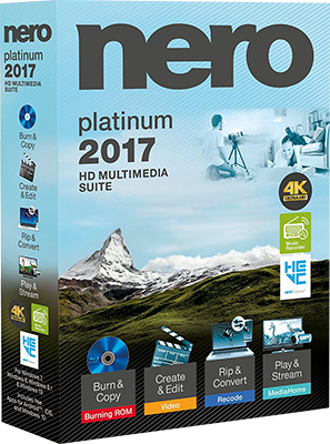 Nero 2017 Platinum v18.0.06100 Multilingual + Content Pack