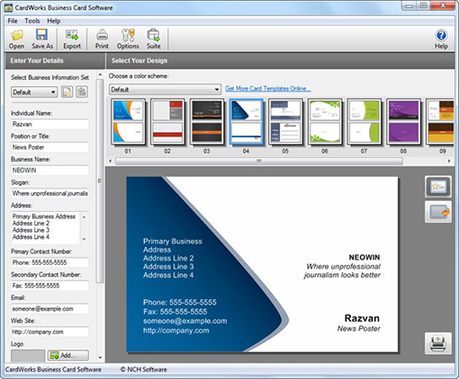 CardWorks Business Card Software v1.14 English
