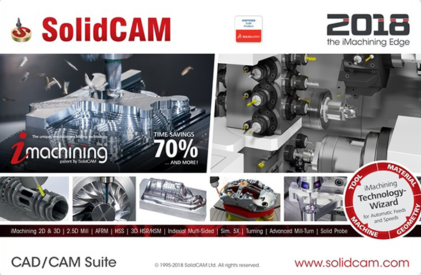 SolidCAM 2018 SP2 HF6 Multilingual for SolidWorks 2012-2019 64-bit