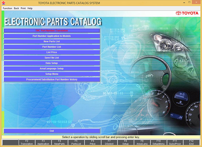 Toyota Electronic Parts Catalog System [07.2019] Multilingual