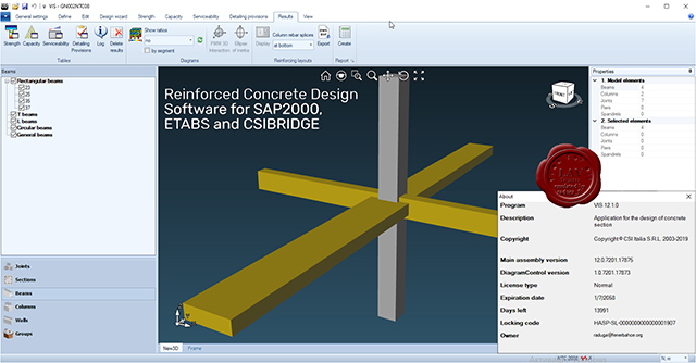 CSI VIS Concrete Design v12.1.0 English 32-bit