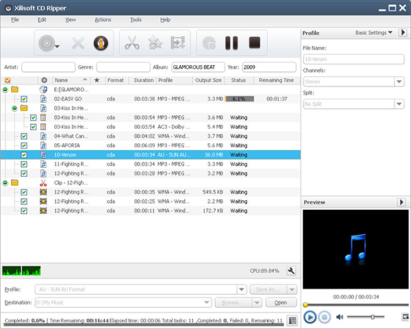 Xilisoft CD Ripper v6.5.0 Multilingual + Keymaker