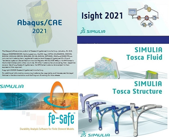 DS SIMULIA Suite (Abaqus/CAE/Isight/fe-safe/Tosca) 2021 HF5 English Win/Linux 64-bit